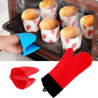 2pcs Kitchen Aid Oven Gloves BBQ Cooking Rubber Silicone Gloves Mitts Pinch