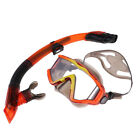 Scuba Dive Snorkeling Silicone Mask Tempered Glass + Dry Snorkel Gear Set