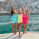 Colorful Rompers Vacation outfits Loose V-neck Elegant Women's Playsuit Shorts