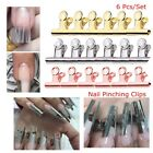 Used, Nail Pinching Clips Manicure Tool Rusian C Curve Nail Extension Pinchers for sale  USA