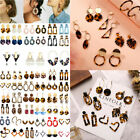 HOT Acrylic Statement Tortoise Shell Earrings Fashion Hoop Resin Dangle Earrings image