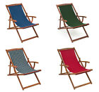 "Trueshopping Hardwood ""rimini"" Deck Chair With Armrests - Choice Of 4 Colours"
