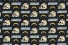 """San Diego Chargers Football Sheeting Fabric Cotton 5 Oz 58-60"""" $10.45 USD on eBay"""