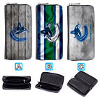 Vancouver Canucks Leather Wallet Purse Zip Around Card Phone Holder $16.99 USD on eBay