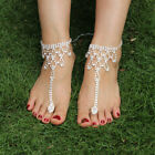 Lace Wedding Foot Chain White/Ivory Barefoot Sandals Beach Anklet Jewelry Shoes image