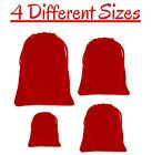 Ruby Red Velvet Drawstring Pouches Soft Smooth Jewellery Wedding Pouch Bag Small