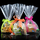 100pcs/set Clear Party Gift Chocolate Lolli Favor Candy Cello Bags Cellophane