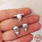 925 Sterling Silver CHARM Girl With Pigtails, Propeller Hat Boy, Grandma Grandpa