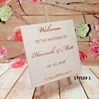 Customised Wedding Favour Reception Sign Personalised Guest Book Welcome Plaque