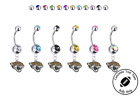 Jacksonville Jaguars Silver Belly Button Navel Ring - Customize Gem Color - NEW on eBay