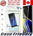 CASE FRIENDLY TEMPERED GLASS SCREEN PROTECTOR FOR SAMSUNG S8 S9 S10E S10 PLUS 9H