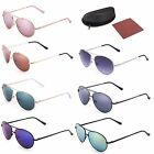 Aviator Kids Glasses Sunglasses for 7-14 Teen Age Boys Girls Baby Shades w/ Case