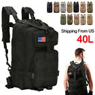 40L Outdoor Military Rucksacks Tactical Bag Camping Hiking Trekking Backpack