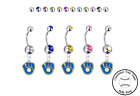 Milwaukee Brewers Retro Silver Belly Button Navel Ring - Customize Gem Color NEW on Ebay