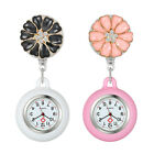 Womens Girls Fashion Nurses Clip-on Fob Brooch Silicone Hanging Pocket Watch image