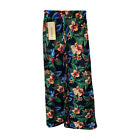 Women Ladies Palazzo Floral Flared Wide Leg Pants leggings Baggy Trousers SM-XL