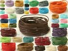 Waxed Coated Rope 1mm Hemp Twine 5-50yr Cord for Jewelry Beading Crafts