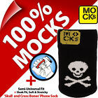Mocks Skull and Cross Bones Pirate Jolly Roger Mobile Phone MP3 Sock Case Cover
