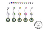 Oakland Athletics Silver Belly Button Navel Ring - Customize Gem Color - NEW on Ebay