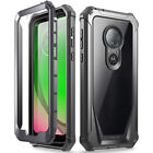 Moto G7 Power / Moto Z4 Rugged Clear Case,Poetic Hybrid Shockproof Bumper Cover