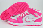 NIKE AIR JORDAN 1 MID PS HYPER PINK/WHITE HOT RETRO HIGH HI GIRLS KIDS YOUTH SZ