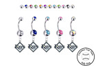 Tampa Bay Rays Silver Belly Button Navel Ring - Customize Gem Color - NEW on Ebay