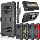 For LG G8 ThinQ / G820 Hybrid Belt Clip Holster Kickstand Full Armor Case Cover