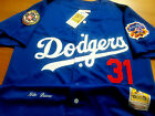 NEW Blue Los Angeles Dodgers #31 Mike Piazza special edition 2patches Jersey Men on Ebay