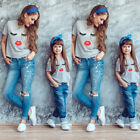 Kyпить Mother and Daughter Baby Cute eye T-Shirt Tops Family Matching Outfits Summer на еВаy.соm