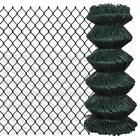 Outdoor Garden Strong Chain Link Fence Fencing Roll Steel Perimeter Fence Barrie