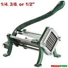 Countertop Cast Iron French Fry / Potato Cutter Slicer Chopper - 1/4, 3/8, 1/2""