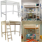 3ft Single Wooden High Sleeper Bunkbed Loft Cabin Bed Upper Berth Bunk Bed Tall