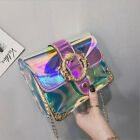 Fashion Women Transparent PVC Clear Jelly Bag Tote Handbag Shoulder Bag Purse US