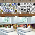 Kitchen Bathroom Tile Mosaic Stickers Self-adhesive Wall Decal Home Floor Decor
