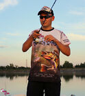 Original Equipo Oficial Crazy Fish Camiseta Tela Transpirable Perch Pesca
