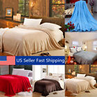 Super Soft Warm Value Solid Plush Fleece Blanket For Queen/King Bedding   image