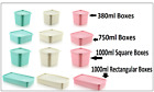 Plastic Food Storage Box Deep Ice Freeze Containers Tidy Colored Lidded Boxes