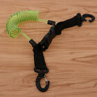 Spring Coil Lanyard Rope with Quick Release Buckle Clips for Diving Climbing