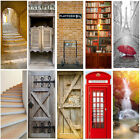 3d Pvc Self Adhesive Door Murals Stickers Diy Wall Decals Wrap Home Gate Decor
