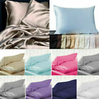 100% Pure Mulberry Silk Pillowcase Luxurious 6 colors Home Bedding Accessories image