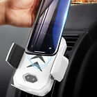 Qi Wireless Charger Car Charging Phone Mount Holder For Samsung Note 9 S8 S9