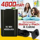 4800mAh Rechargeable Battery Pack USB Charger Cable Xbox 360 Wireless Controller