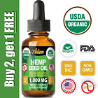 Organic Hemp Oil Drops for Pain Relief, Stress, Sleep (PURE & NATURAL) 1000mg $11.27 USD on eBay