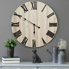 Stratton Home Decor Distressed Wood 28 in. Wall Clock