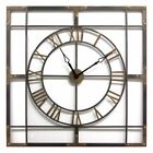Stratton Home Decor Large Industrial 29.92 in. Wall Clock