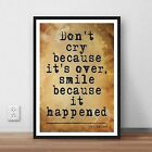 Dr Seuss Literary quote Art print gift poster - wall home decor