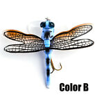 Topwater  Bionic Bait Treble Hooks Flies Insect Dragonfly Fly Fishing Lure