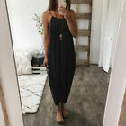 Kyпить Women Summer Airy Maxi Dress Solid Color Knitting Sleeveless на еВаy.соm