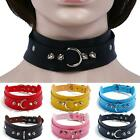 Women Punk Gothic Leather Choker Spike Rivet Buckle Collar Necklace Jewelry Gift