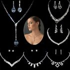 Vogue Wedding Bridal Crystal Rhinestone Jewelry Set Necklace Earrings Party Gift